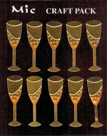 Gold Metal Wine Glass Embellishments for Crafts